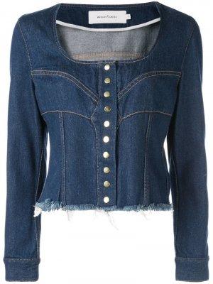 Джинсовая куртка с U-образным вырезом Marques'Almeida. Цвет: синий