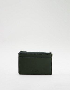 Зеленый бумажник с застежкой-молнией RAINS 1645-Зеленый цвет