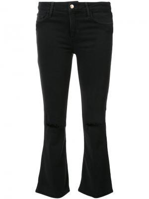 Укороченные джинсы с клешем ниже колена Joes Jeans Joe's. Цвет: чёрный