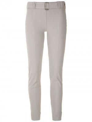 Укороченные брюки с поясом Gloria Coelho. Цвет: серый
