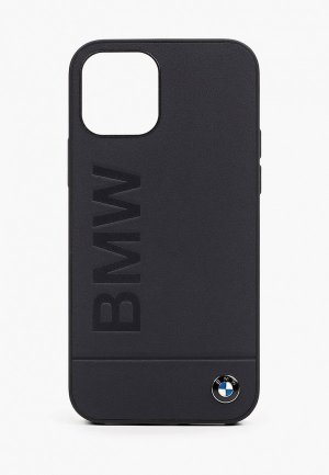Чехол для iPhone BMW 12/12 Pro (6.1), Signature Genuine leather Logo imprint Navy. Цвет: синий