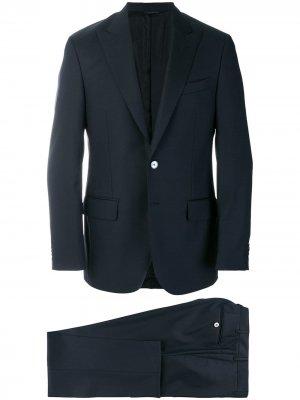 Delloglio деловой костюм кроя слим Dell'oglio. Цвет: синий