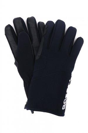 Синие горнолыжные перчатки с кожаными вставками Bosco. Цвет: синий