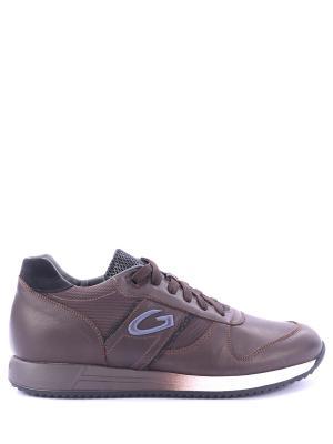 Кожаные кроссовки Fresno Alberto Guardiani. Цвет: коричневый