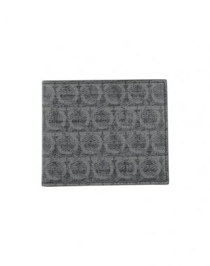 Бумажник SALVATORE FERRAGAMO. Цвет: черный