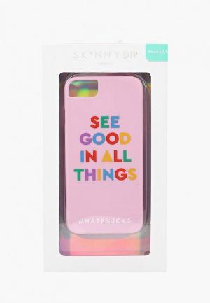 Чехол для iPhone Skinnydip 6/6s/7/8 Good In All. Цвет: розовый