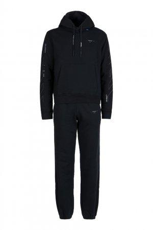 Черный трикотажный костюм Off-white. Цвет: черный