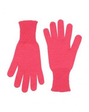 Перчатки CRUCIANI. Цвет: коралловый