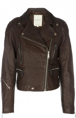 Кожаная куртка Denim&Supply by Ralph Lauren. Цвет: коричневый