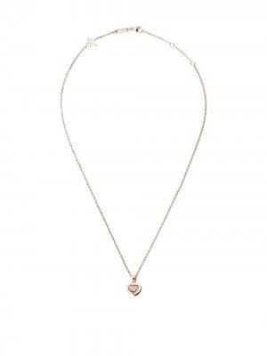 Колье Happy Diamonds Icons из розового золота с бриллиантом Chopard. Цвет: розовый