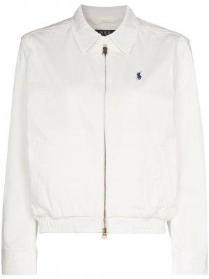 Куртка-бомбер Polo Ralph Lauren. Цвет: белый
