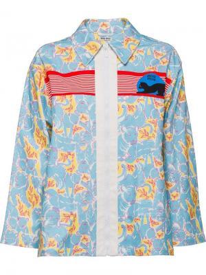 Джинсовая куртка с принтом Miu