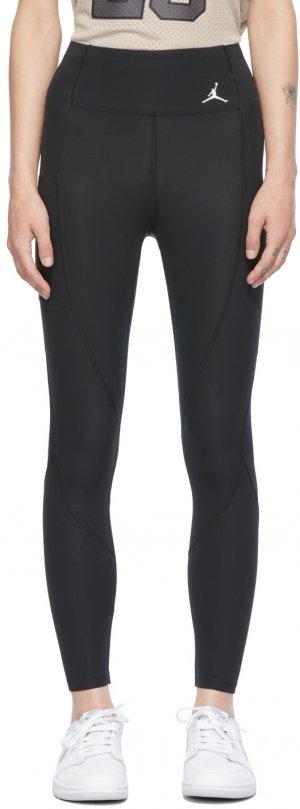 Black Essentials Leggings Nike Jordan. Цвет: black/black/white