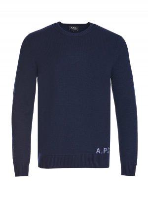 Пуловер A.P.C.. Цвет: темно-синий