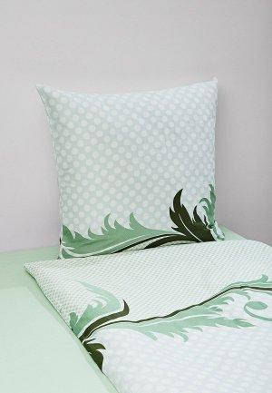 Постельное белье 2-спальное Tete-a-Tete. Цвет: зеленый