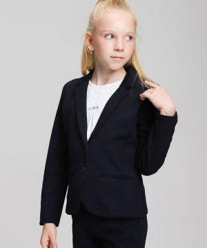 Пиджак для девочек O`Stin. Цвет: черно-синий