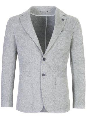 Пиджак хлопковый CANALI. Цвет: серый