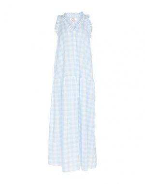 Длинное платье ATINSIGHT by ANDREA TURCHI. Цвет: небесно-голубой