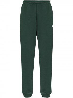 Спортивные брюки Polizei Vetements. Цвет: зеленый