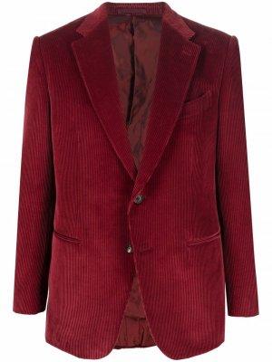 Однобортный пиджак Caruso. Цвет: красный