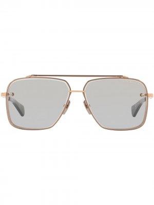 Солнцезащитные очки-авиаторы Mach-Six Dita Eyewear. Цвет: серый