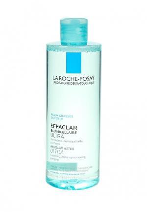 Мицеллярная вода La Roche-Posay EFFACLAR ULTRA для жирной проблемной кожи 400 мл. Цвет: прозрачный