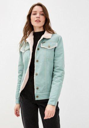 Куртка джинсовая Dasti. Цвет: бирюзовый
