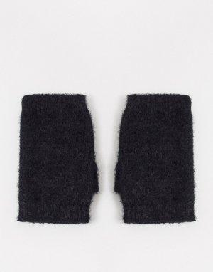 Черные вязаные митенки zola-Черный Boardmans
