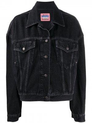 Джинсовая куртка свободного кроя Acne Studios. Цвет: черный