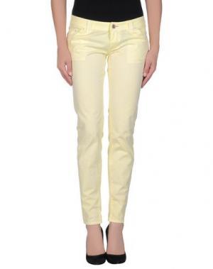 Повседневные брюки JCOLOR. Цвет: светло-желтый