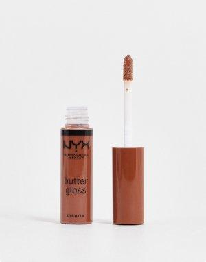 Блеск для губ Butter Gloss – Fudge Me-Коричневый цвет NYX Professional Makeup
