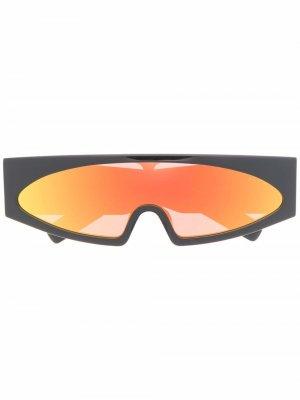 Солнцезащитные очки Retro Futuristic в прямоугольной оправе Rick Owens. Цвет: черный