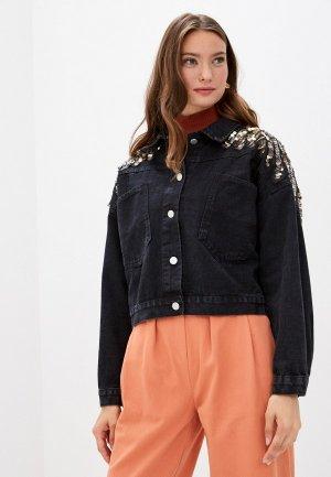 Куртка джинсовая Bad Queen. Цвет: черный