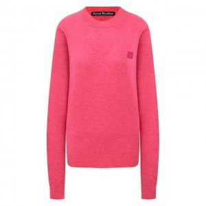 Шерстяной пуловер Acne Studios. Цвет: розовый