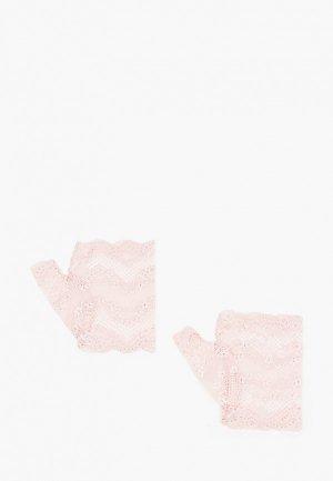 Митенки Nadia Piskun. Цвет: розовый
