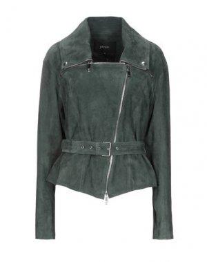 Куртка JITROIS. Цвет: темно-зеленый