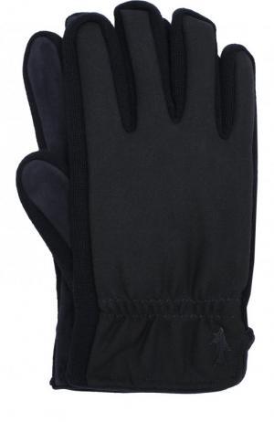 Утепленные шерстяные перчатки Paul&Shark. Цвет: темно-синий