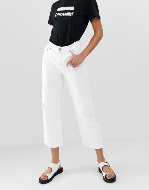 Широкие укороченные джинсы с классической талией Cadell-Белый Dr Denim