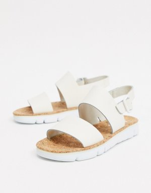 Белые кожаные сандалии -Белый Camper
