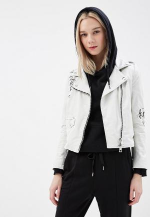 Куртка кожаная Imperial. Цвет: белый
