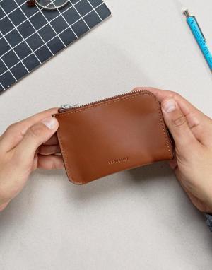 Кожаный бумажник Penny Sandqvist. Цвет: коричневый
