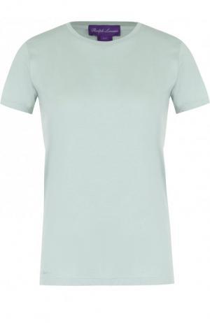Хлопковая футболка Ralph Lauren. Цвет: светло-зеленый