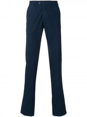 Классические брюки узкого кроя Corneliani. Цвет: синий