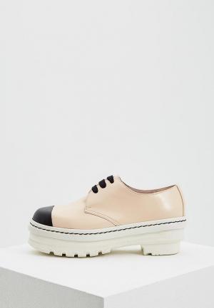 Ботинки Marni. Цвет: бежевый