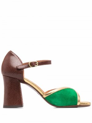 Босоножки Petun на блочном каблуке Chie Mihara. Цвет: зеленый
