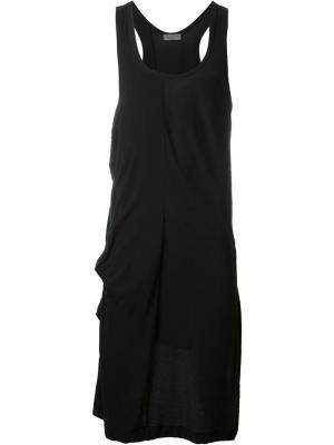 Удлиненный жилет Yohji Yamamoto. Цвет: чёрный