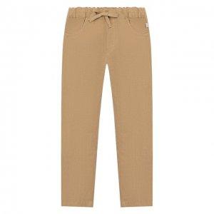 Льняные брюки Il Gufo. Цвет: бежевый