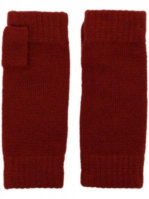 Перчатки-митенки N.Peal. Цвет: красный