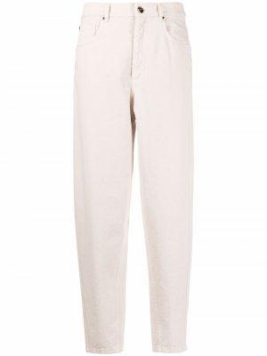 Зауженные джинсы с завышенной талией Brunello Cucinelli. Цвет: нейтральные цвета