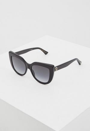 Очки солнцезащитные Gucci GG0164S001. Цвет: черный